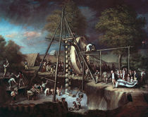 Exhumation of the Mastodon von Charles Willson Peale