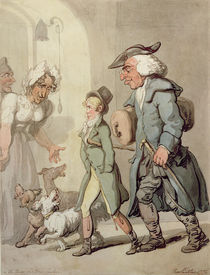 The Bear and Bear Leader - passing the Hotel d'Angleterre by Thomas Rowlandson