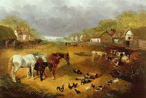 A farmyard in Spring, 19th century by John Frederick Herring Snr