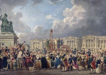 An Execution, Place de la Revolution by Pierre Antoine Demachy