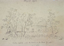 Cottage at East Bergholt, with a well von John Constable