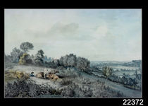 The Valley of the Stour, looking towards East Bergholt von John Constable