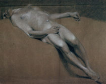 Study of a recumbent male nude von John Constable