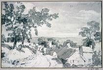The Entrance to the Village of Edensor von John Constable