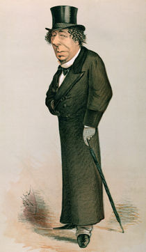 Disraeli, Benjamin : cartoon from Vanity Fair by English School