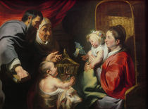 The Virgin and Child with SS Zacharias by Jacob Jordaens