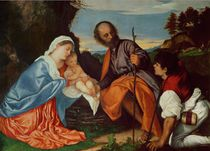 The Holy Family and a Shepherd by Titian