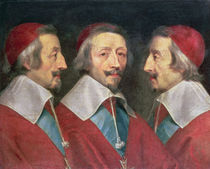 Triple Portrait of the Head of Richelieu by Philippe de Champaigne