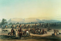 Camp of Piekann Indians by George Catlin