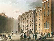 The Fleet Prison from Ackermann's 'Microcosm of London' von T. & Pugin, A.C. Rowlandson