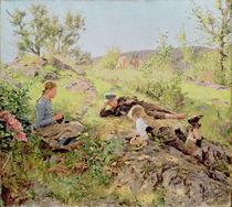Shepherds, Tatoy, 1883 by Erik Theodor Werenskiold