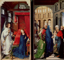 The Annunciation and the Presentation in the Temple von Rogier van der Weyden