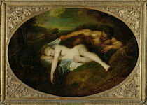 Nymph and Satyr, or Jupiter and Antiope by Jean Antoine Watteau