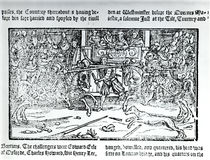 A Jousting Tournament, from 'Chronicles of England' by Holinshed von English School