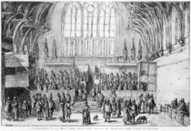 Westminster Hall, West End by Wenceslaus Hollar