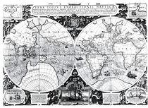 World map; Vera Totius Expeditionis Nauticae by Jodocus Hondius