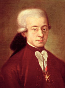 Portrait of Wolfgang Amadeus Mozart after 1770 von Italian School