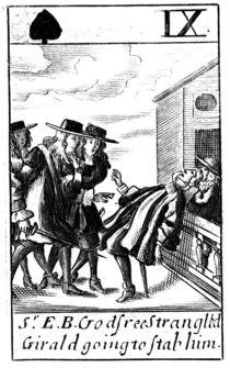 The Murder of Sir Edmund Berry Godfrey in 1678 by English School