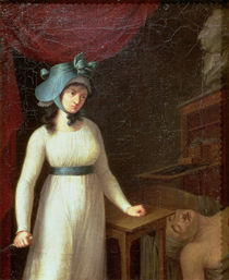 Charlotte Corday and the Assassination of Jean Paul Marat in his Bath von French School
