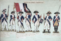 The Parisian Army during the French Revolution c. 1789 von Lesueur Brothers