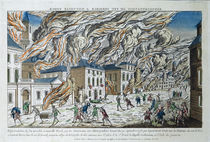 The Great Fire of New York by French School