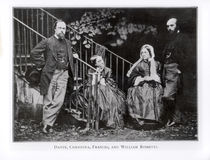 Dante, Christina, Frances and William Rossetti by English Photographer