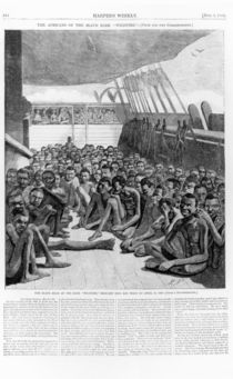 The Slave Deck of the Bark 'Wildfire' by American School