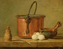Still Life of Cooking Utensils by Jean-Baptiste Simeon Chardin