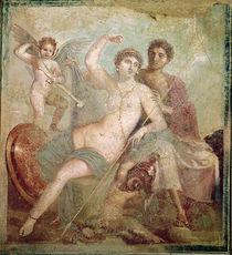 Mars and Venus from the House of Mars and Venus Pompeii von Roman