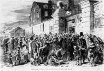 The Irish Famine: Scene at the Gate of the Work-House by English School