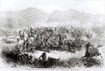 The Indian Battle and Massacre near Fort Philip Kearney by American School