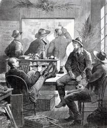 A Kansas Land Office, from 'Harper's Weekly' by American School