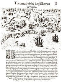 The Arrival of the Englishmen in Virginia von John White