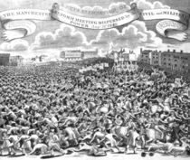 The Manchester Reform Meeting Dispersed by Civil and Military Power von English School