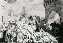 Plague in Florence as described by Boccaccio by Luigi Sabatelli