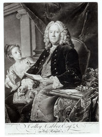 Colley Cibber 1758, engraved by Edward Fisher by Jean Baptiste Vanloo