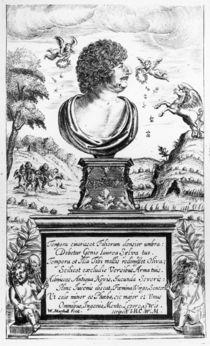 Robert Herrick , engraved by the artist von William Marshall