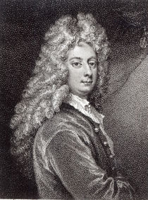 William Congreve engraved by P.W.Tomkins by Godfrey Kneller