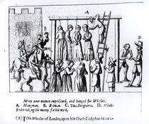 Many Poor Women Imprisoned and Hanged for Witches von English School