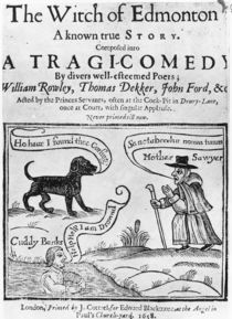 """Frontispiece to """"The Witch of Edmonton by English School"""