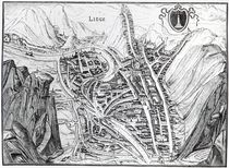 View of the Town of Liege, after a 16th century engraving by French School