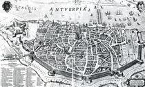 Map of Antwerp von Dutch School