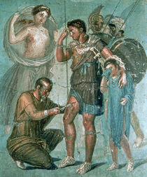 Aeneas injured, from Pompeii von Roman