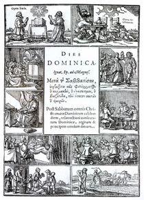 The Lord's Day, 1639 von Netherlandish School