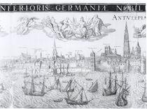 Town Plan of Antwerp, 1549 von Dutch School