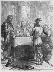 Harold Receiving News of the Norman Invasion in 1066 von English School