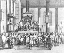 Charles II Crowned at Scone von English School