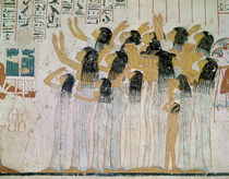Weeping Women in a Funeral Procession von Egyptian 18th Dynasty