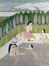 Girls Bathing, Pahari Style von Indian School