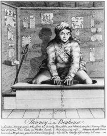 Sawney in the Boghouse, 1745 von English School